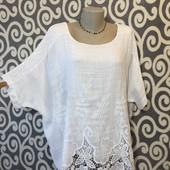 Италия! Модный, оригинальный, летний блузон для пышненьких модниц . В идеальнейшем состоянии.
