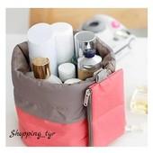 Удобная и стильная косметичка - мешок ,незаменимая вещь для девушки.