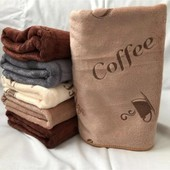 """Набор полотенец из микрофибра 50/25 """" Кофе """" Очень красивое и мягкое Отличного качества Лот 3 шт"""