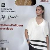 Пуловер оверсайз с кашемиром от дизайнера steffen schraut р.XS