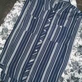 Мега стильная, фирменная, рубашка в полоску Primark pp14
