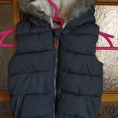 Стоп! ❤Классная теплая жилетка на меху для мальчика,1-1,5 года❤Собирайте лоты,экономьте на доставке