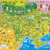 Детская карта Украины или мира.