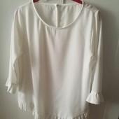 Блузка шифоновая белая, размер S