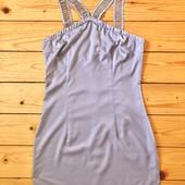 Модное платье мини цвета капучино