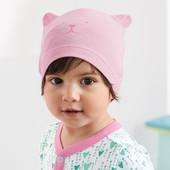 ☘ Лот 1 шт☘ Яркая шапочка, био-хлопок, Tchibo (Германия), размер: one size, розовая