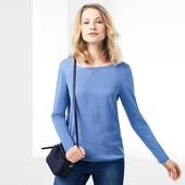 Нежная блуза с тканой вставкой от Tchibo(Германия), наши размеры: 50-54 (44/46 евро)