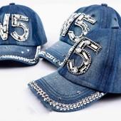 Симпатичная джинсовая кепка, размер 52/54