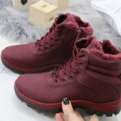Зимние ботинки*Вurgundy**