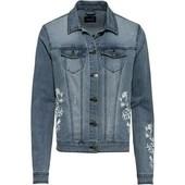 Джинсовая куртка Esmara с вышивкой, размер S