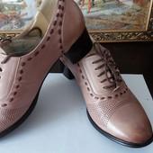 """туфли в стиле Casual """"Bacyni """". . натуральная кожа. размер 37. стелька 23.5 см.("""