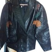 """Куртка кожаная""""Sphinx leather""""(Англия).размер: 12 (UK), - L , евро 42."""