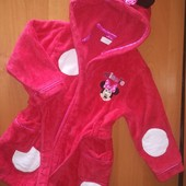Disney, махровый халат на 3-4года, на рост 104, пояс на резинке
