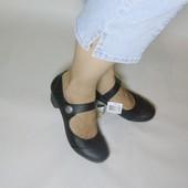 Удобные туфли footflexx с кожаной стелькой р.38 сртелька 24,5 см