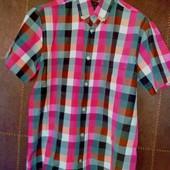 Классная √√ в состоянии новой √√ Thоmpson ,легкая рубашечка в красивую клетку S ,Турция.