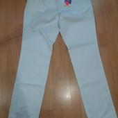 Много лотов,собирайте)белые мужские брюки под Джинс Л 52/54