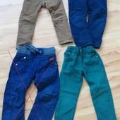 ✔✔Фирменные брючки/джинсы на подкладе и без на 92-98-104 рост. на выбор уп 10%, нп 5% скидка!✔✔