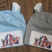 Демисезонные шапочки для мальчиков от 0 до 3 лет! Одна на выбор