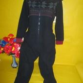 Флисовый детский комбинезон слип пижама на 9-10 лет !!!!!!!!!