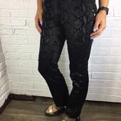 Женские брюки с пояском (змеиный принт)