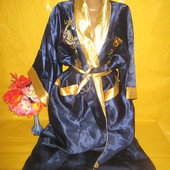 Двухсторонний халат для дома в японском стиле грудь 62 см !!!!!!!!!