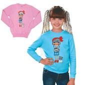 распродажа!новый хлопковый,яркий,модный джемпер для девочки.на прохладные летние вечера).голубой