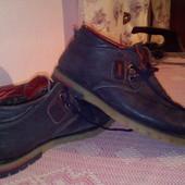 Мужские кожаные ботинки зимние