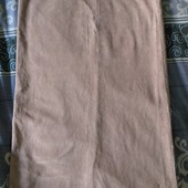 Крутая вельветовая юбка бежево-персикового цвета. Большой размер.