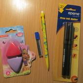 Набор канцелярских принадлежностей ( ручки ,карандаш,ластики)
