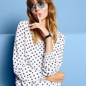 Стильная блуза в горох от tchibo (германия), 44 евро, на наш 50