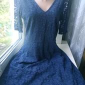 Полностью гепюровое платье трапеция от River Island, р.12