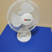 Вентилятор настольный поворотный Bitek 23см 20Вт