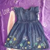 Джинсовое платье на 3-5 лет