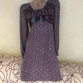 Роскошное платье, рукава из плотного шифона, сток люкс! 100% вискоза!