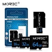 Карта памяти MicroSD 32Gb класс 10 + адаптер в комплекте