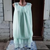 Нежное шифоновое платье размер 50-52