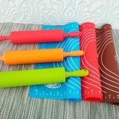 силиконовый коврик + силиконовая скалка цвет на выбор
