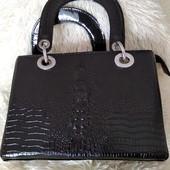 Суперская сумочка клатч под кожу крокодила