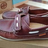 Легкие туфли Beppi для мальчика полностью кожаные.