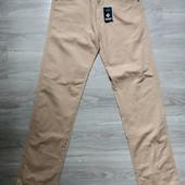 Фирменные новые коттоновые брючки-джинсы р.40(14)