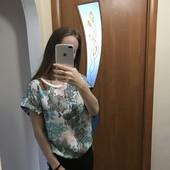Шифонова футболка. Сорочка.42 розмір