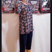 Замечательный красивый домашний костюмчик футболка и штанишки!!Размер 48-50!Укр почта 5%скидка!!