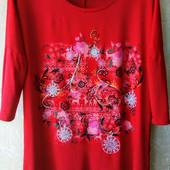 Красивая и качественная футболка из вискозы, Турция на 52-54 р.р.