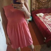Нежное коралловое платьечко. Разгружаю гардероб.