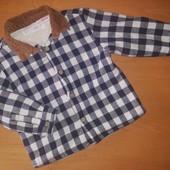 Zara рубашка на меху для мальчика, на 18-24месяца, на рост 92