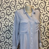 Классная, полосатая рубашечка Zara Woman для пышненьких модниц.