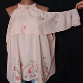 Легусенькая свободная блузочка с вышивкой, вискоза, грудь-144