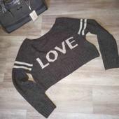 Женский укороченный свитер M L