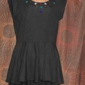 Фактурная блуза с баской з.12