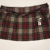 клетчатая мини юбка с бирками. размер 20